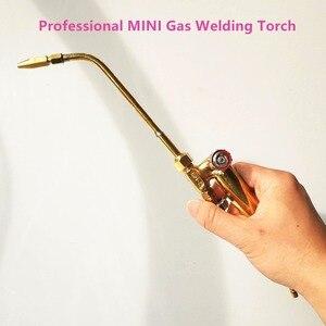 Image 2 - Professional Mini Gas Schweißen Taschenlampe 30cm Lange 3 Düsen 0.6/0.7/0,8mm für Klimaanlage Kühlschrank jewel Löten löten