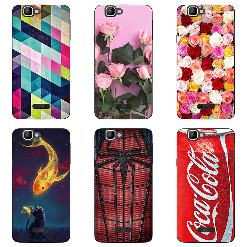 soft tpu phone case colour Mobile phone shell For Wiko Rainbow Soft silicon Phone Case colorful painting skin shell