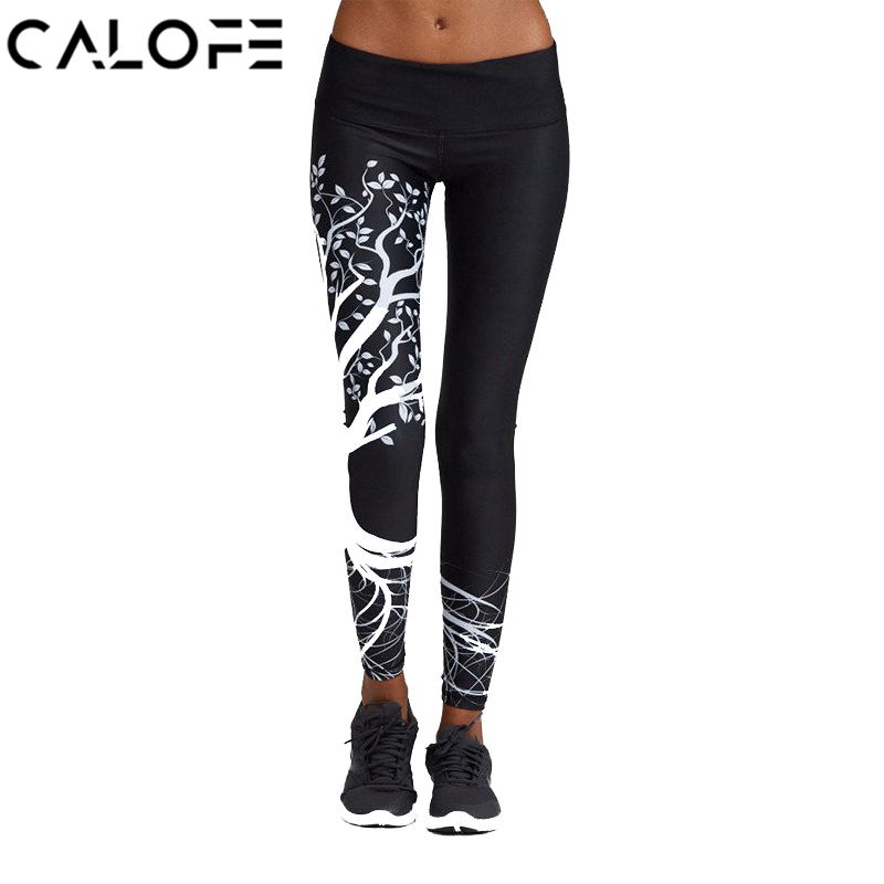 CALOFE Skinny Push Up Sport Leggings Women Yoga Pants Workout Gym Leggings Running Tights Women Fitness Jogging Sports Pants sports jogging pants with zip