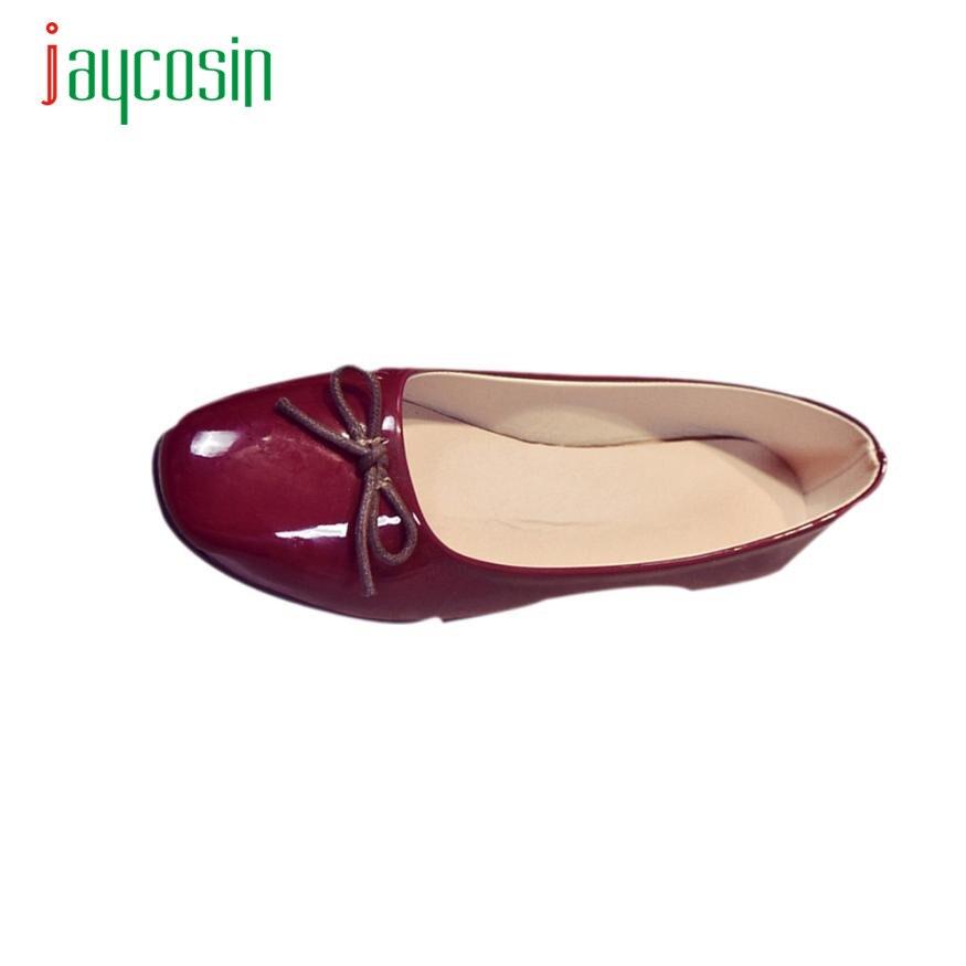 Jaycosin Elegancia Mujeres de Los Planos Zapatos Slip On Comfort Shoes Zapatos P