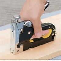 Multitool prego grampo arma grampeador móveis para porta de madeira estofos quadro arma rebite kit nailers rebite ferramenta nietzange Pistolas de pregos Ferramenta -