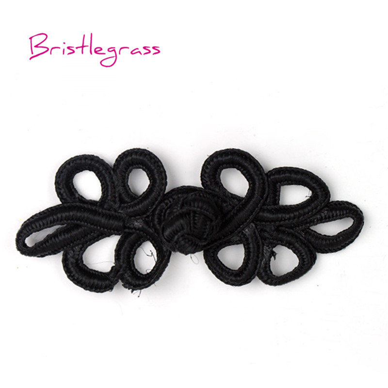 Wholesale 10 Pairs Black Chinese Braided Cord Frog Closure Buttons SHIP FROM USA