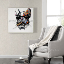 French Bulldog Oil Painting Picture for Wall Artwork