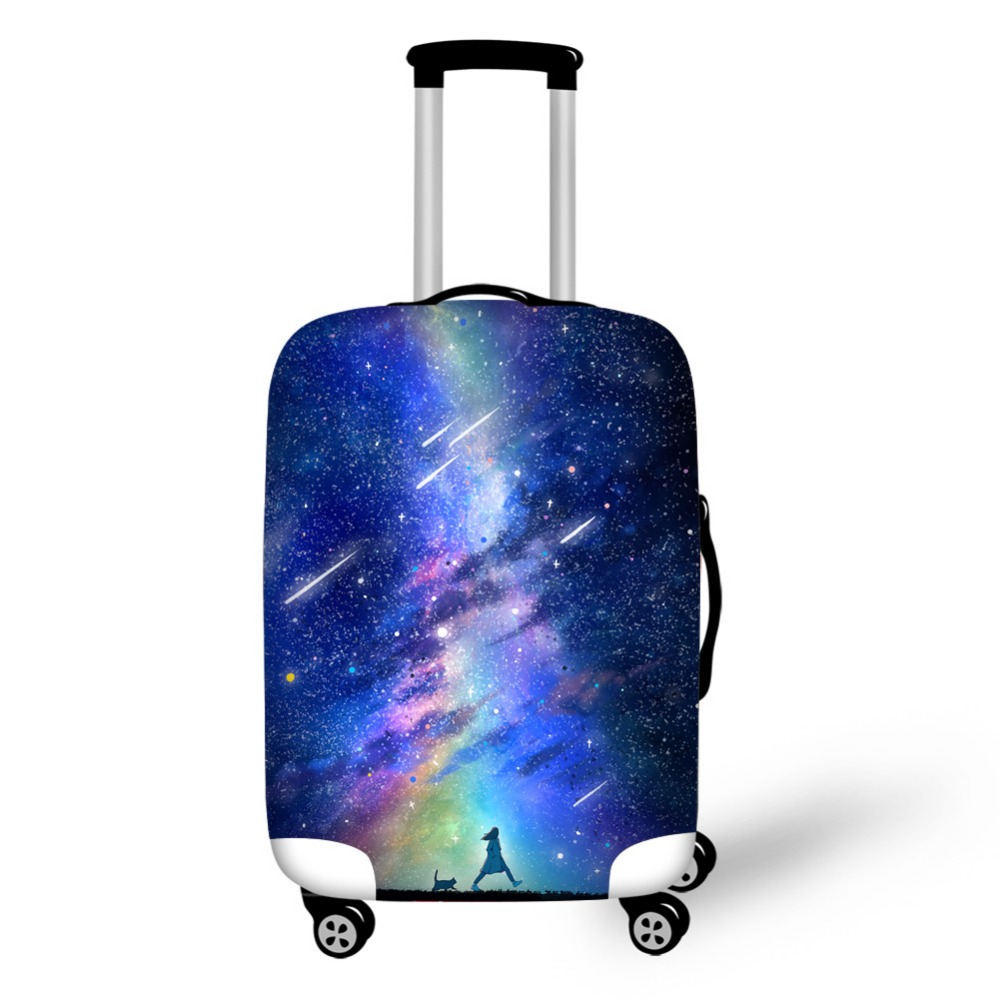 HUE MASTER Travel Accessories Luggage Case Cover Star Suitcase Protective Covers For 18-30 Inch Waterproof Elastic Dust Cover