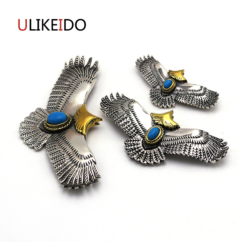 Pure 925 Sterling Silver Jewelry Eagle Charms Pendants For Men And Women Thai Silver Birds Necklace Chain Fine Gift 659