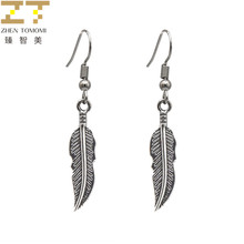 2018 Oorbellen Hot Trendy Fashion Drop Earrings Bijoux Wholesale Retro Feather Statement New Listing Dangling For Women Jewelry(China)