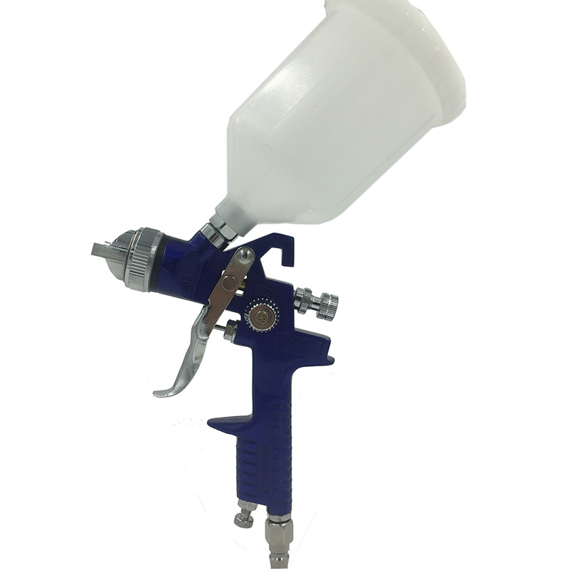 цена на SAT1191 paint spraygun bottle powder spray gun professional paints tank gravity gun pneumatic machine tools
