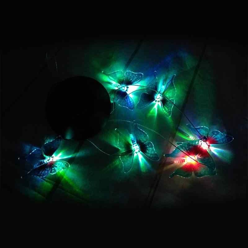 LumiParty Солнечный колокольчик СВЕТОДИОДНЫЙ Красочный лампа-бабочка водонепроницаемый свет для коридоров парки и прихожие украшения