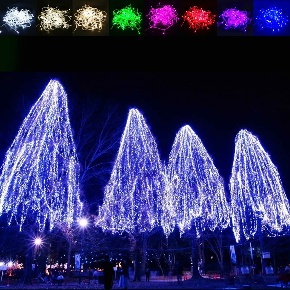 Christmas Led Strip Lights.Us 4 55 5 Off 10m 100leds Waterproof Outdoor Christmas Led String Light Decoration Fairy Garlands Strip Lamp Party Wedding Holiday Ac 85 265v In Led