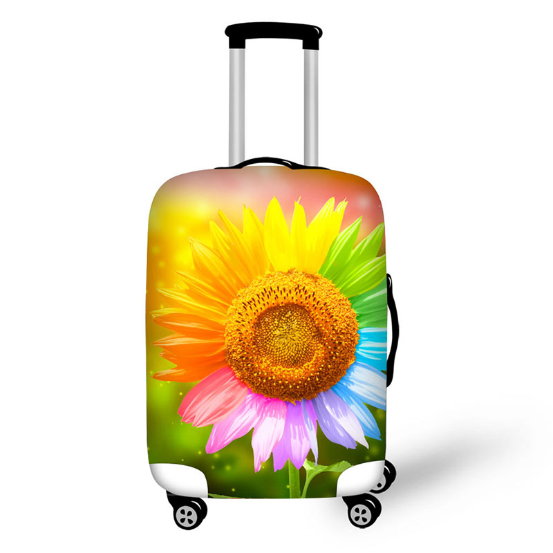 Anyfocus 3d Flower Travel Luggage Protective Cover For 18 30 Inch Trolley Suitcase Elastic Trunk Case Dust Covers With Zipper