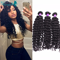 Deep Wave Brazilian Hair Curly Weave Human Hair Bundles 3Pcs/Lot Brazilian Virgin Hair 7A Brazilian Deep Wave Vrigin Hair
