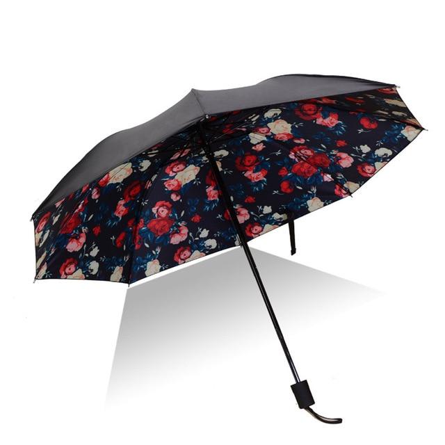 Beautiful Floral Rain Umbrella Mawgie