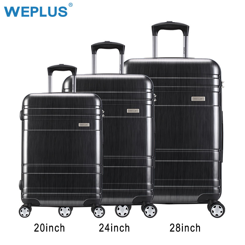 "3pes/set luggage bag 20"" 24"" 28 travel suit case TAS LOCK carry on vintage trolley for women men Spinner Wheel Travel big case"