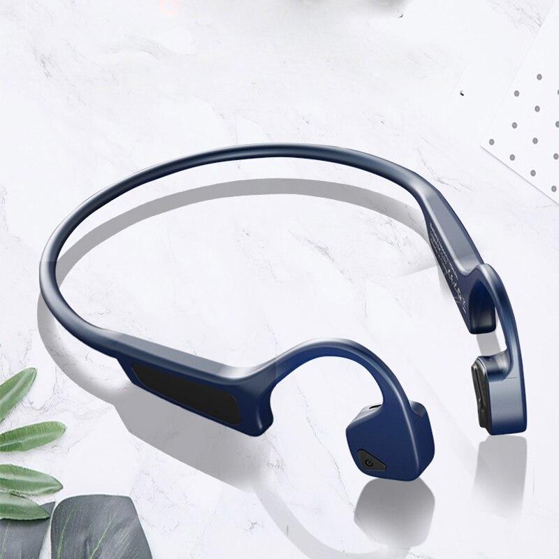 Casque sans fil Bluetooth 5.0 G18 écouteurs à Conduction osseuse casque de Sport en plein air avec Microphone casques mains libres