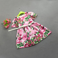 2 7 Y Retail Rose Flower Dress Sashes For Wedding Party Girls Floral Print Dress First