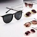 Moda Das Mulheres Dos Homens Óculos de Sol Retro Óculos Redondos Metal Frame Perna Óculos 5 Cores Dos Óculos De Sol Oculos