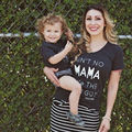 Mama Kids Baby Matching Tops Girl Cotton Clothes Women Family T Shirts Blouses I