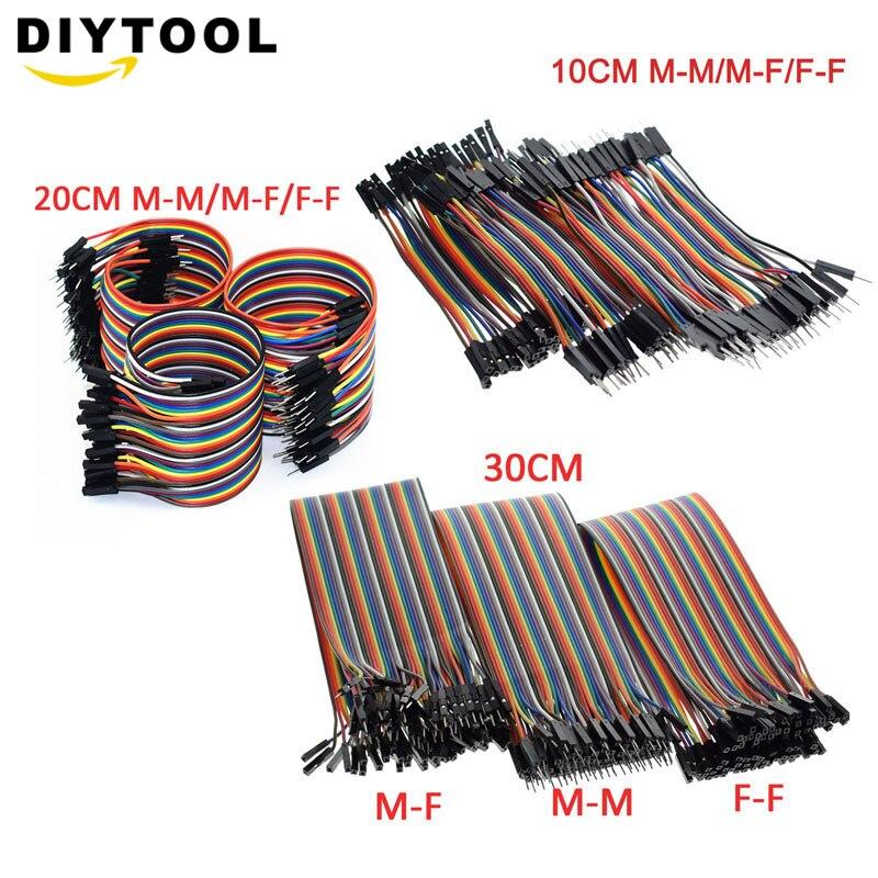 40pcs 10cm 20cm 30cm 40P 2.54mm Dupont Cable Jumper Wire Dupont Line Male To Male Male To Female Female To Female Dupont Line