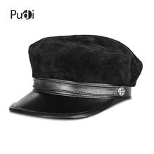 Pudi HL823 man genuine leather baseball cap hat 2018 brand new black real lerther student trucker sport caps hats black цена