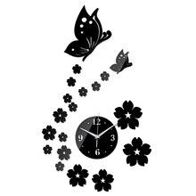 2016 nueva verdadera oferta especial superior de moda reloj de pared diy amor digitales 3d de decoración del hogar salón pegatinas de cuarzo de acrílico