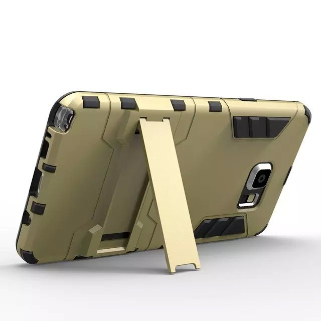Fashion  For Samsung For Note 4 5  SM-N9200  SM-N9100 Case Two-in-one Bracket TPU+PC Back Cover Case Phone Support Cases