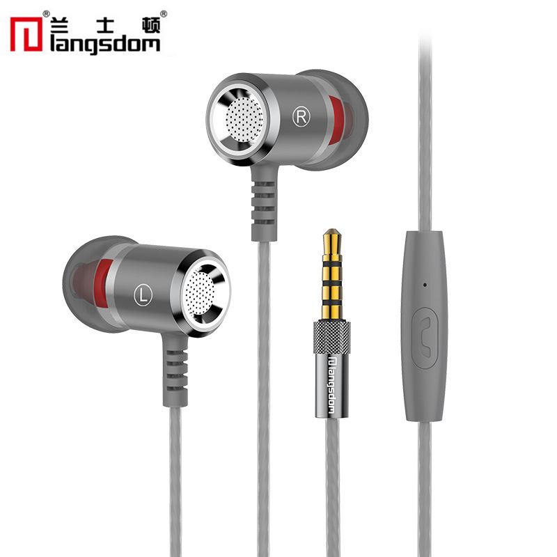 Langsdom Earphone Super Bass In-ear Earbuds Stereo Hifi Universal Wired Earphones With Mic For iPhone Huawei for xiaomi/samsung