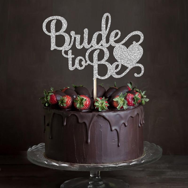 GoldSilver Amp Black Glitter Script Bride To Be Wedding