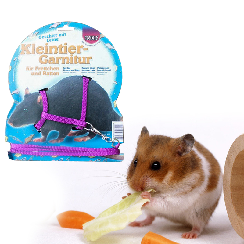 Popular Hamster Gerbil Rat Cage Playhouse Nylon Adjustable Harness Leash Lead