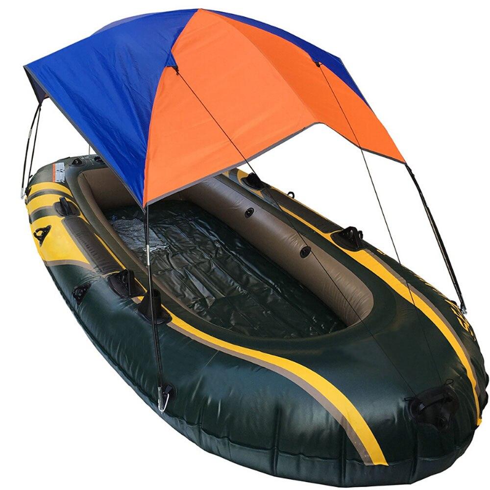 Accessoires de Kayak de bateau gonflable pêche ombre de soleil auvent de pluie Kit de Kayak voilier auvent couverture supérieure 2-4 personnes abri de bateau