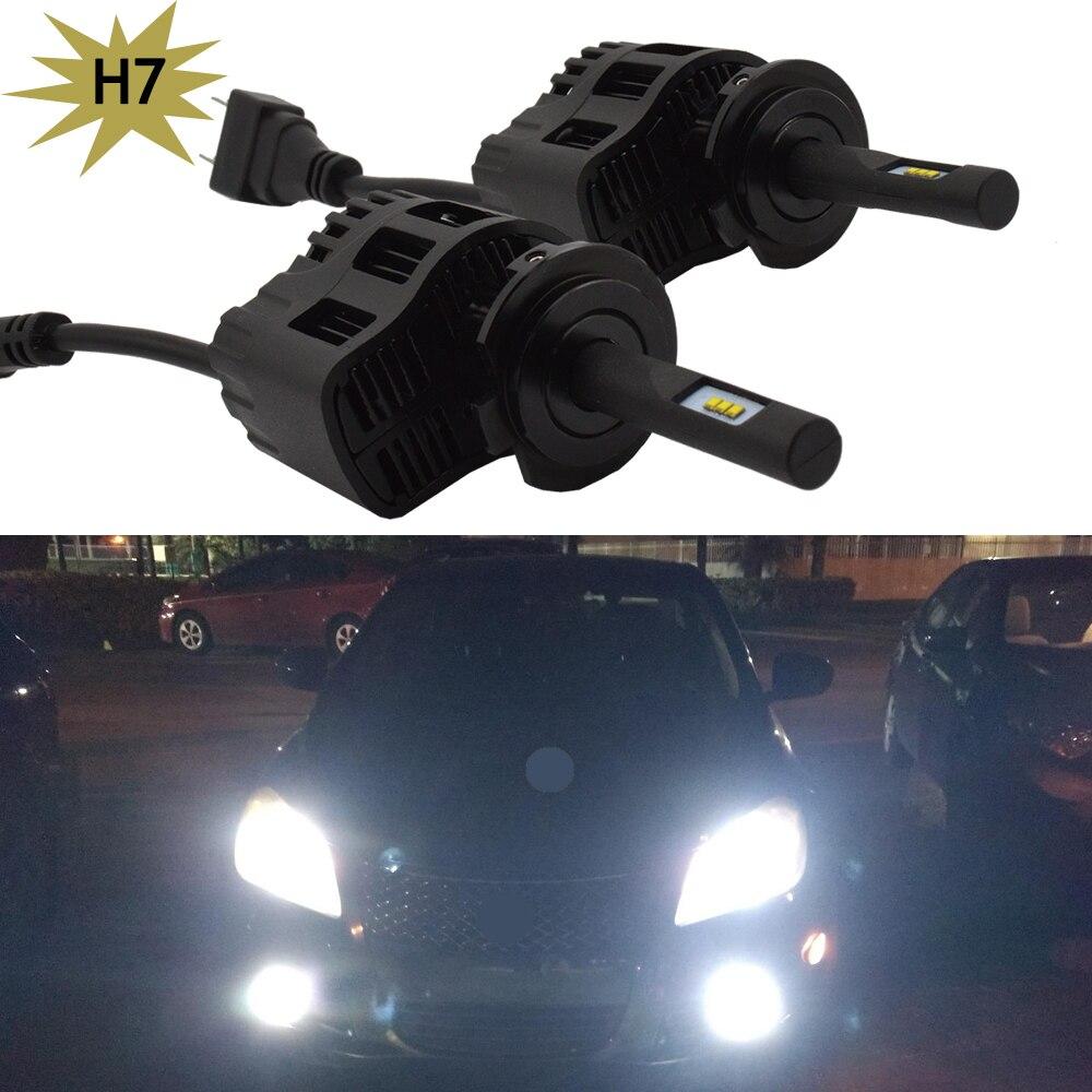 где купить 25W H7 all in one LED Headlight Headlamp Auto Conversion Car LED Kit 3200LM DRL Lamp Bulb H1 H8 H9 H11 HB3 HB4 9005 9006 WHITE по лучшей цене
