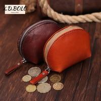 X.D.BOLO Leather Coin Purse Women Small Wallet Change Purses Mini Zipper Money Bags Children's Wallets Key Holder Carteira