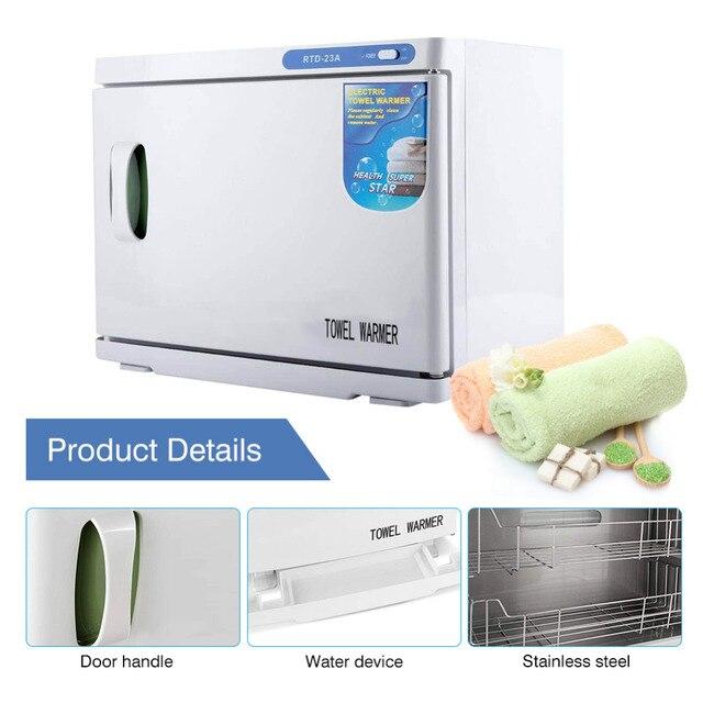 23l Hot Towel Cabinet Uv Light Sterilizer Salon Spa Machine Electric Warmer Disinfection