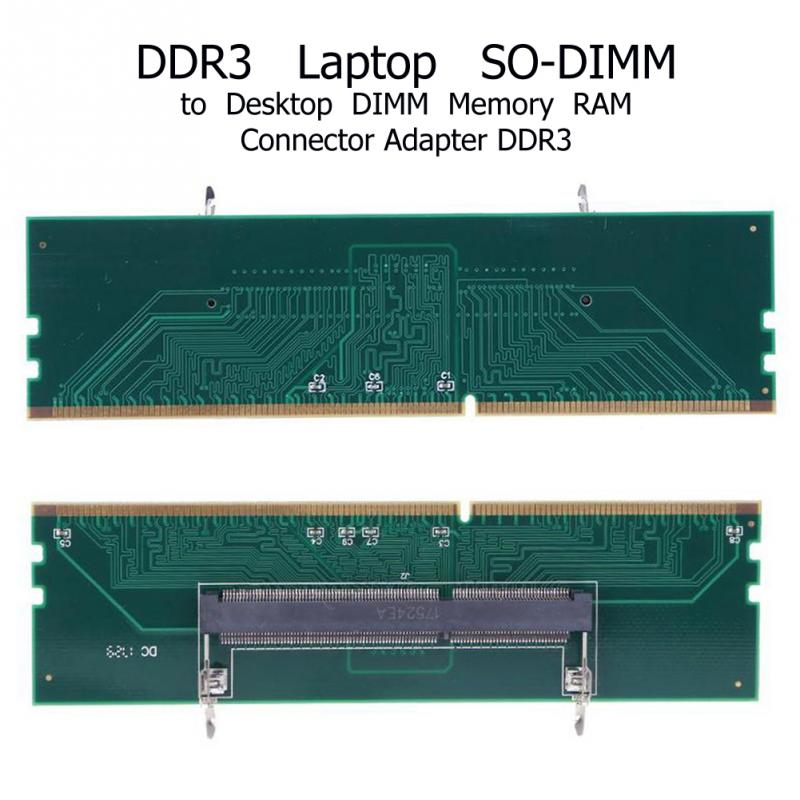 DDR3 SO DIMM To Desktop Adapter DIMM Connector Memory RAM Adapter Card 240 To 204P Computer Memory Adapter Card