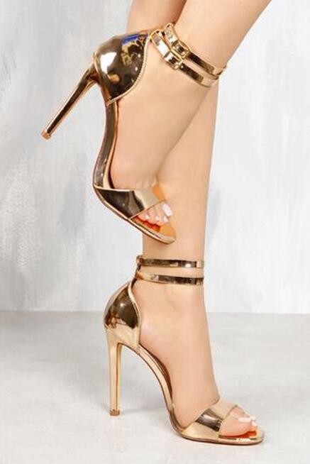 Une Sexy Chaussures Femmes Sandales Design Cuir Nouveau Cheville Mode À Bout Bride En Robe Ouvert Hauts Picture Picture As Talons as Verni La Sangle U4Zqwxw5