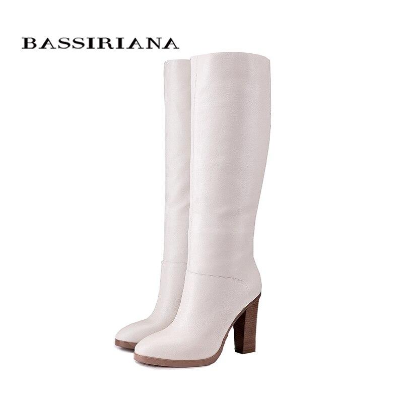 BASSIRIANA أزياء الشتاء أحذية كاجوال الأميرة الحلو النساء التمهيد عالية أحذية بكعب الأزياء منتصف العجل الأحذية-في بوت للركبة من أحذية على  مجموعة 3