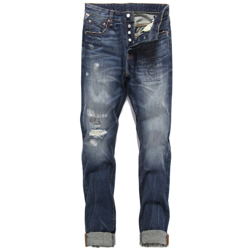 2017 mens buttons jeans ripped denim trousers hot sale loose jeans men new famous brand jeans superably plus size 28-38 U375 2017 fashion mens jeans straight denim biker jeans men trousers new famous brand superably jeans skull ripped pants u292