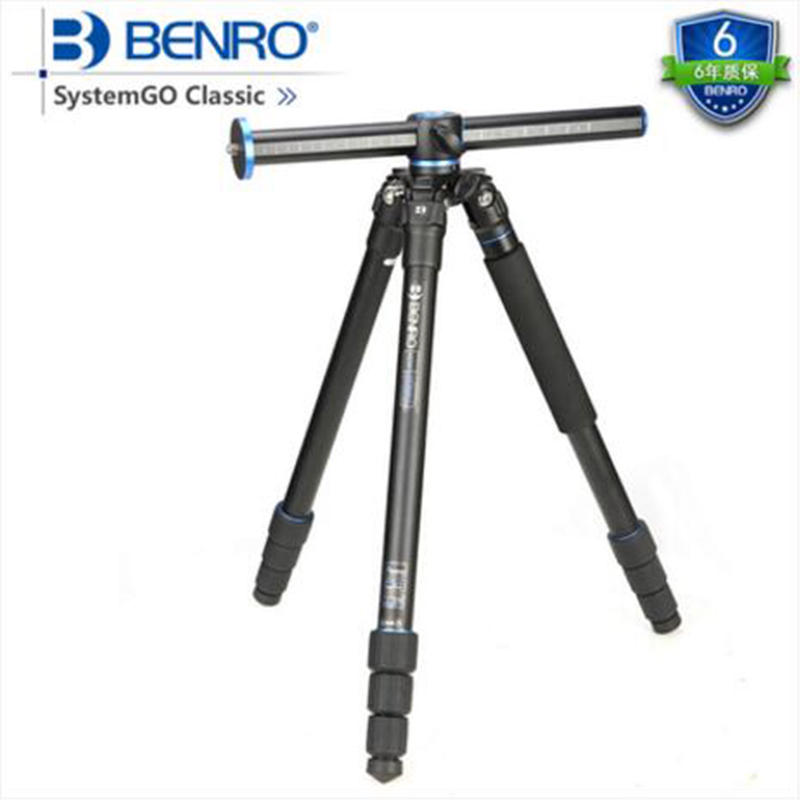 Benro GA258T Aluminum Professional Tripod Portable Digital Camera Tripe 90 Degree Center Column Stable Photography Support Set benro aluminum tripod 3 8 super strong impact resistance horizontal axis camera tripod multifunctional alloy tripod ga169t