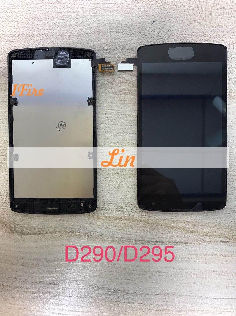 4,5 1 шт. IFire для LG Optimus F60 D390 L Fino D290 D290N D295 ЖК-дисплей Дисплей Сенсорный экран планшета с ближний рамка черный + Инструменты