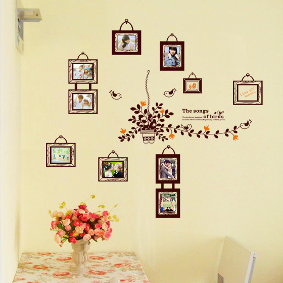 60*90cm Travel Photo Wall Sticker Chic Family Photos Frame Picture ...