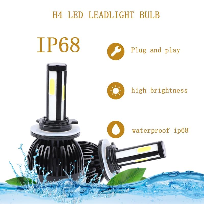 Image 2 - H4 led headlight 9004 9007 H13 H15 cob auto led Car Bulb 6000K 12V lampada light source waterproof aluminume H4 lamp-in Car Headlight Bulbs(LED) from Automobiles & Motorcycles