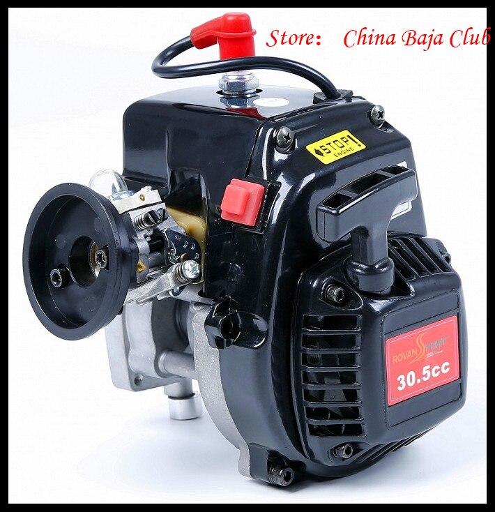Moteur 30.5cc 4 boulons avec bougie d'allumage 668 carburateur embrayage 8000 tr/min pour HPI Baja 5B, LOSI 5 iveT, Redcat, FG