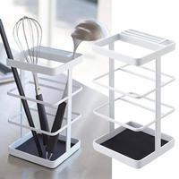 Multi Function Kitchen Draining Cooking Tool Storage Rack Shovel Spoon Bucket Knife Fork Dry Storage Box