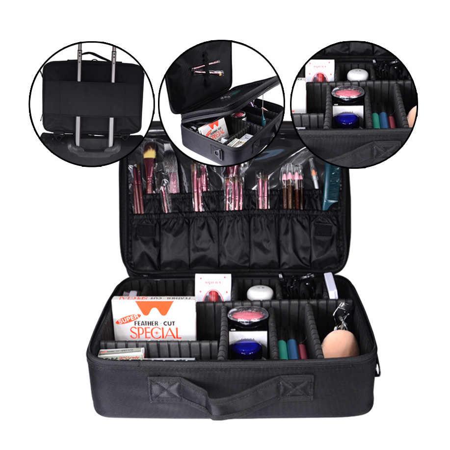 Novas Mulheres Bolsa de Maquiagem Profissional Caso Cosméticos Bolsa de Maquiagem À Prova D' Água Compõem Organizador Sacos De Armazenamento Bolsa De Viagem de Grande Capacidade