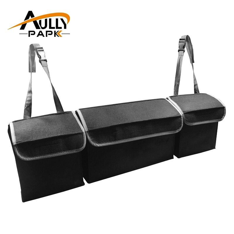 Auto Trunk Organizer Rücksitz Lagerung Tasche Hohe Kapazität Multi-verwenden Fühlte Lagerung Box Auto Sitz Zurück Organisatoren Innen Zubehör
