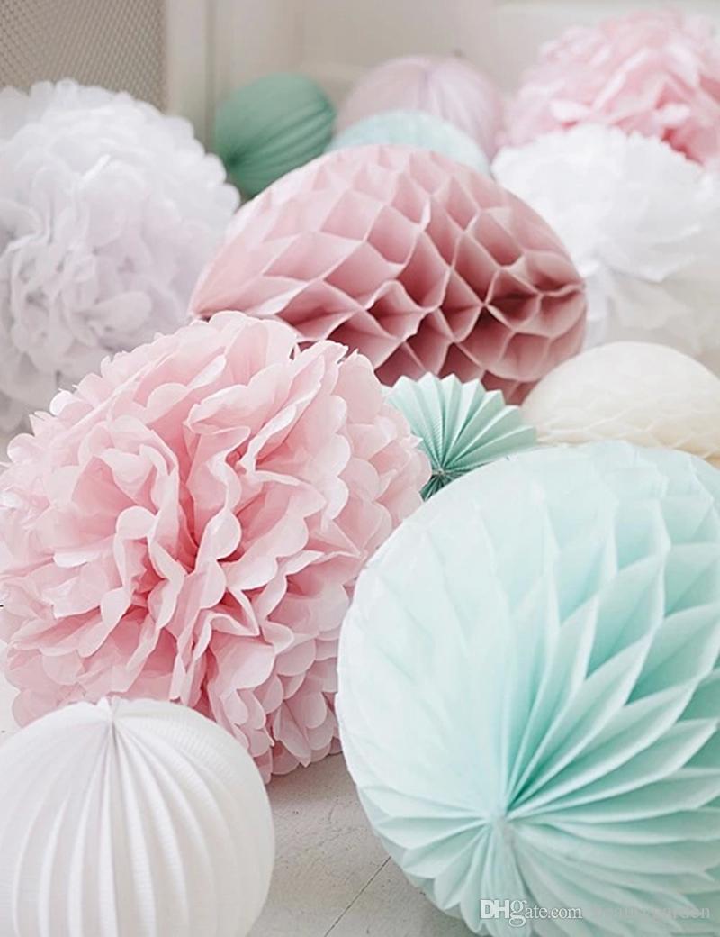 50 teile / los 30 cm Durchmesser DIY Papier Waben Blume Ball Hochzeit - Partyartikel und Dekoration - Foto 2