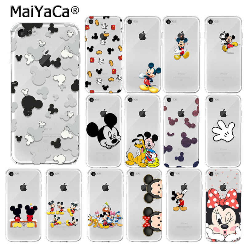 MaiYaCa Mickey Mouse DIY Luxo High-end Caso Protetor para o iphone 7 7 plus X XS MAX 6 6 S 8 8 Plus 5 5S XR