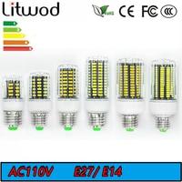 Litwod Z90 30 42 64 84 108 136Leds SMD5733 E27 E14 AC110V 220V LED Lamp LED Lights Corn Led Bulb Chandelier Candle Lighting