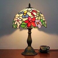 30CM European Pastoral Art Glass Bird Decorative Desk Lamp Hotel Club Bedroom Bedside Lamp