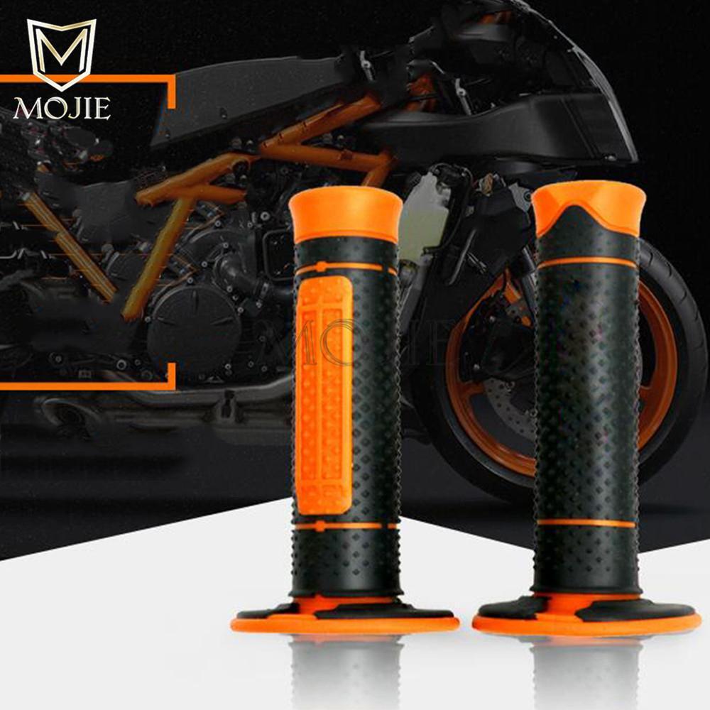 1 Pairs Motorcycle Rubber Handlebar Grips Hand Grips Handle Bar Grip Pit Dirt Bike For KTM 990 125/200/390 DUKE KTM990 Motorbike