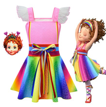 2019 New Summer Rainbow Ribbon Dress Beautiful Nancy Childrens Halloween Cosplay Performance